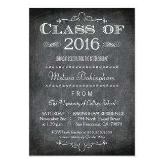 """La clase de la fiesta de graduación 2016 de la invitación 5"""" x 7"""""""
