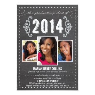 La clase de la foto 2014 de la graduación de la invitación