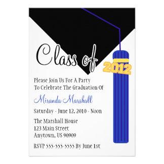 La clase de la graduación 2012 de la borla invita  anuncios