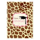 La clase de la graduación 2012 de la jirafa invita anuncios