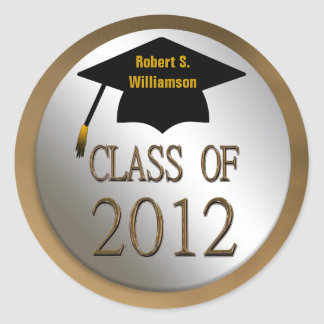 La clase de la graduación 2012 sella a los pegatin