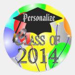 La clase de la graduación 2014 hincha a los pegati pegatinas redondas
