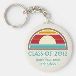 La clase de la graduación de 2012 70s inspiró pues llaveros