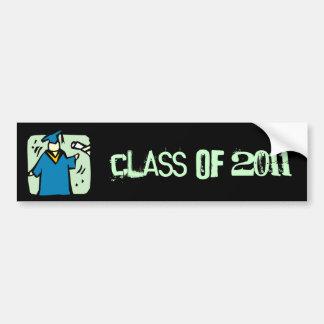 La clase graduada de la pegatina para el parachoqu pegatina de parachoque