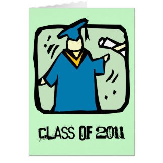 La clase graduada de la tarjeta 2011 de la graduac