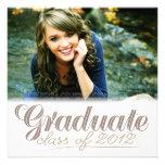La clase graduada del blanco moderno 2012 invita anuncio