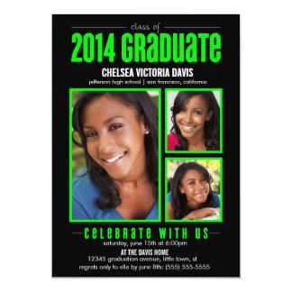 La clase verde negra de la foto graduada 2014 comunicado personal