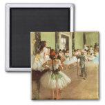 La Classe de Danse by Edgar Degas 2 Inch Square Magnet