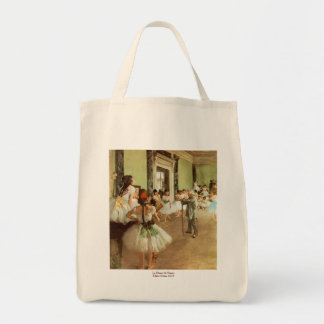 La Classe de Danse by Edgar Degas Grocery Tote Bag