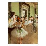 La Classe de Danse de Edgar Degas Tarjetón