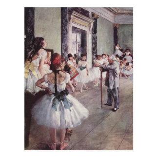 La classe de danse (la clase de baile) postal