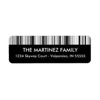 La clave de barras de plata raya la etiqueta del r etiquetas de remite