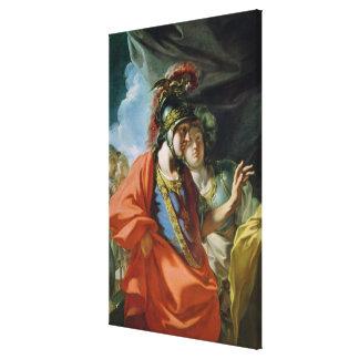 La clemencia de Alexander el grande Impresión De Lienzo