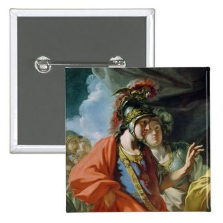 La clemencia de Alexander el grande Pin Cuadrado
