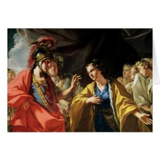 La clemencia de Alexander el grande Tarjeta De Felicitación