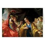 La clemencia de Alexander el grande Tarjetas
