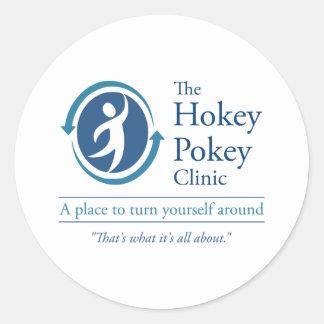 La clínica del Pokey de Hokey Pegatina Redonda