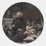 La clínica gruesa de Thomas Eakins Pegatina Redonda