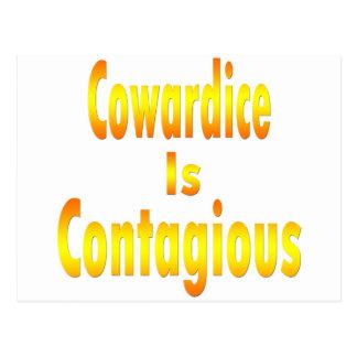 La cobardía es contagiosa postal