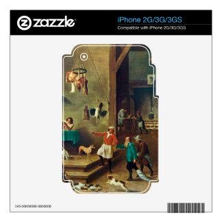 La cocina de David Teniers el más joven Calcomanías Para iPhone 2G