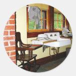 La cocina de la abuela pegatinas redondas