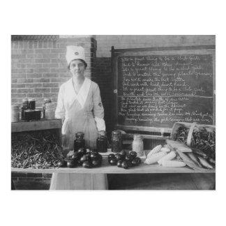 La cocina de la abuela - vintage postal