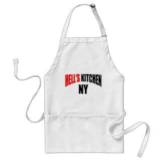 La cocina del infierno Delantales de Nueva York