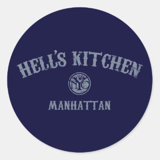 La cocina del infierno pegatinas redondas