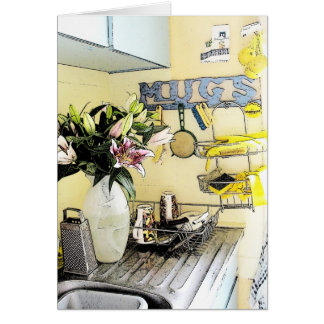 La cocina del patsy - tarjeta de letra