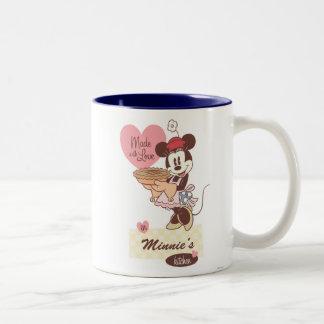La cocina Minnie Mouse de Minnie Taza De Dos Tonos