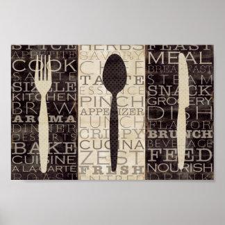 La cocina redacta el trío póster