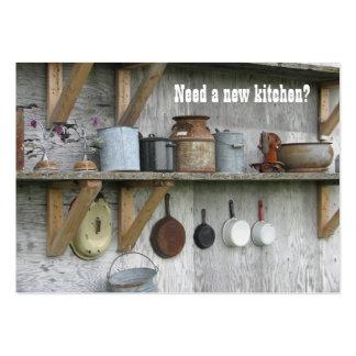 La cocina remodela la tarjeta de visita del vintag
