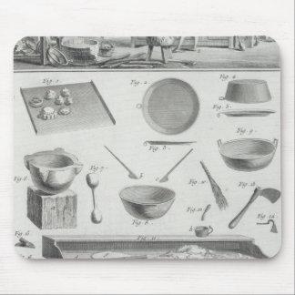 La cocina y el equipo de un panadero, del 'Encyclo Alfombrilla De Raton
