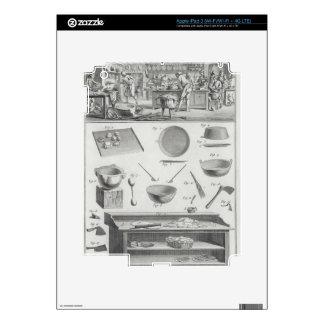 La cocina y el equipo de un panadero, del 'Encyclo iPad 3 Pegatina Skin