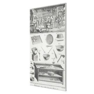 La cocina y el equipo de un panadero, del 'Encyclo Lona Envuelta Para Galerías
