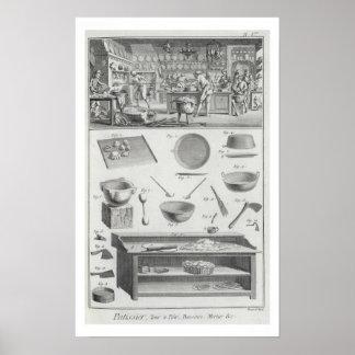 La cocina y el equipo de un panadero, del 'Encyclo Póster