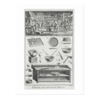La cocina y el equipo de un panadero, del 'Encyclo Postales