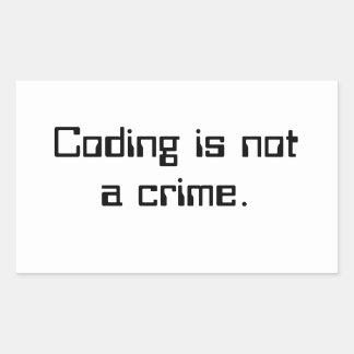 """La """"codificación no es un crimen."""" - pegatina"""