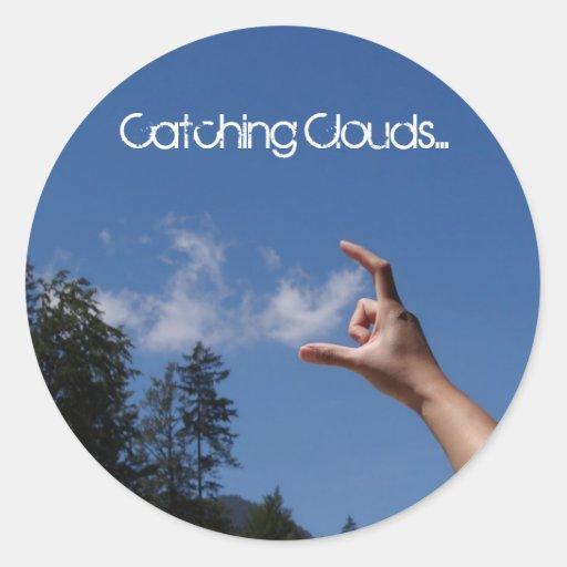 La cogida se nubla… pegatina redonda