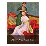 La Coiffure By Pierre-Auguste Renoir Flyer