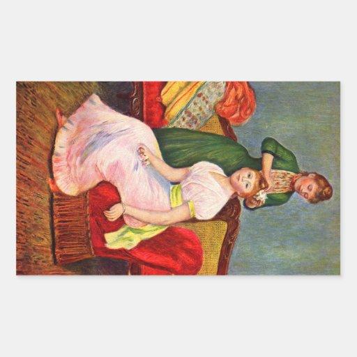 La coiffure by Pierre Renoir Stickers