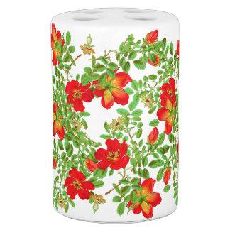 La col botánica subió florece floral set de baño