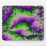 La col púrpura encrespa el mousepad alfombrillas de ratón