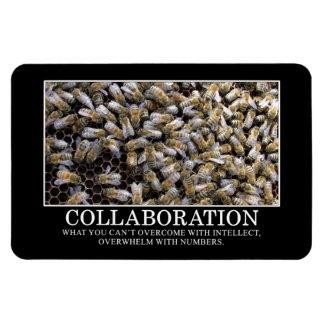 La colaboración mejora su oportunidad de éxito iman de vinilo