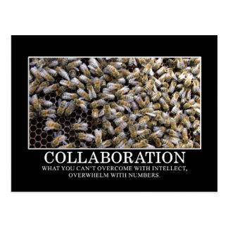 La colaboración mejora su oportunidad de éxito tarjetas postales