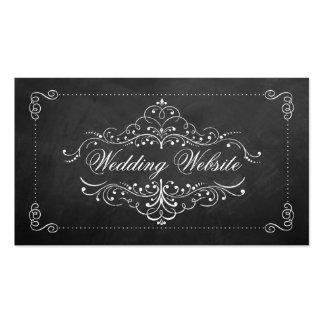 La colección adornada del boda de la pizarra tarjetas de visita