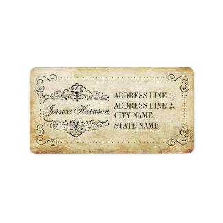 La colección adornada del boda del vintage del etiquetas de dirección