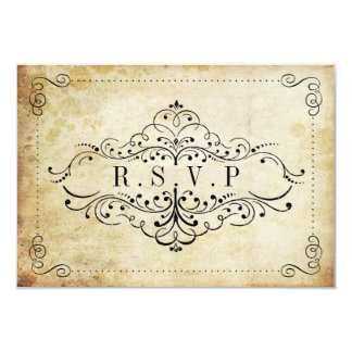 La colección adornada del boda del vintage del invitación 8,9 x 12,7 cm