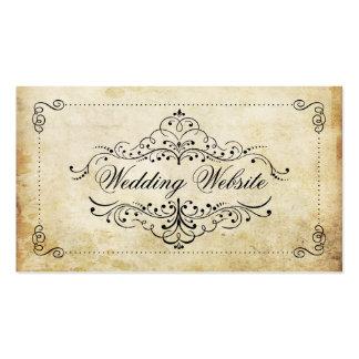 La colección adornada del boda del vintage del tarjetas de visita