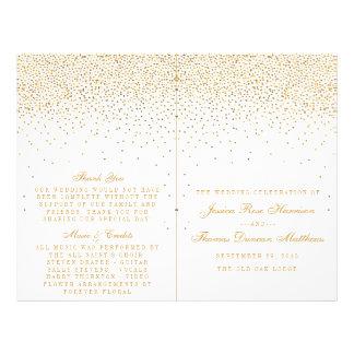 """La colección atractiva del boda del confeti del folleto 8.5"""" x 11"""""""